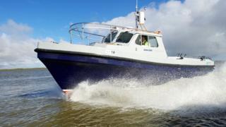The Spirit of Breydon launch on Breydon Water