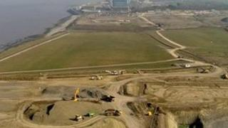 Building site at Hinkley Point