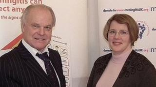 Meningitis UK Founder Steve Dayman and Meningitis Trust Chief Executive Sue Davie