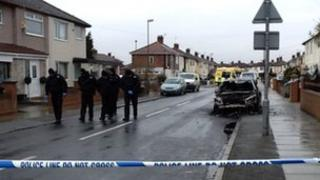 Police on Moorland Road in Maghull