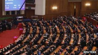 China's National People's Congress, 15 March 2013