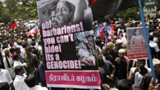A DMK protest against Sri Lanka in in Chennai, India, March 5, 2013