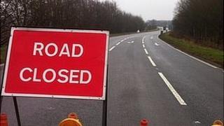A614 closed
