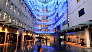 Exterior of New Broadcasting House in central London