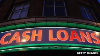 A money lending shop in Brixton
