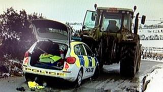 Police crash scene