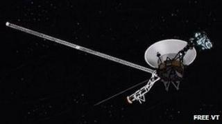 Voyager space probe explores the depths of the universe