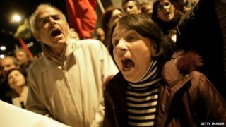 Protestors angry at plans for Cyprus