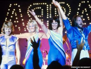 Abba on stage in the US in 1979