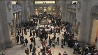 The main lobby of the Metropolitan Museum of Art in New York 19 March 2013
