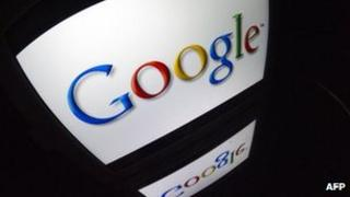 Google logo seen on tablet