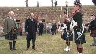 The Duke of Edinburgh officially opened the new Highlanders' museum