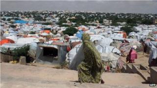 A camp for internally displaced people in the Somali capital, Mogadishu