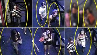 CCTV stills of potential witnesses