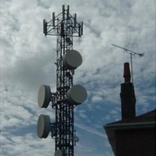Phone mast in Guernsey