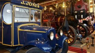 L/Cpl Jones' butcher's van with the Queen Mary showman's engine