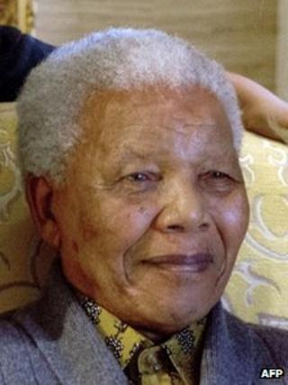 Nelson Mandela in Aug 2012