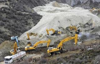 Mine in Tibet, 29 March