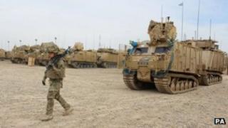 20-tonne armoured Warthog trucks in Afghanistan, taken 25/02/2013