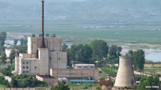 A 2008 picture of North Korean nuclear plant in Yongbyon