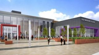 Artist's impression of East Berkshire College once the project is complete