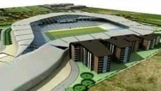 Artists' impression of new stadium