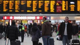 people at Waterloo train station