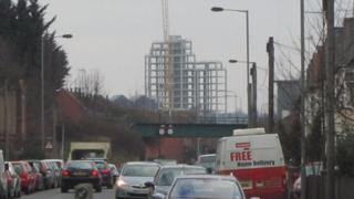 Regatta Quay flats from Wherstead Road, Ipswich