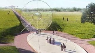 Proposed design for Bomber Command memorial