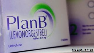 """File photo of Plan B, or """"morning after"""" contraceptive pill available over the counter to all ages"""