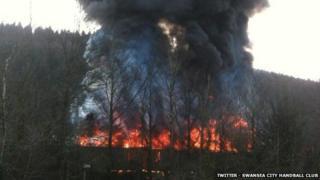 Fire at GLJ Recycling, Cross Keys