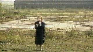 Margaret Thatcher on Teesside