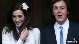 Nancy Shevell and husband, Sir Paul McCartney