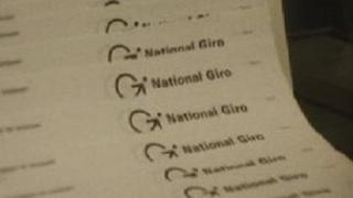 Girobank paperwork