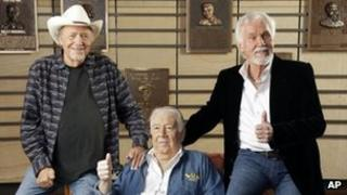 """Bobby Bare, """"Cowboy"""" Jack Clement and Kenny Rogers"""