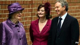 Baroness Thatcher, Cherie Blair and Tony Blair (2007)