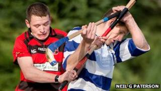 Newtonmore on their way to the title