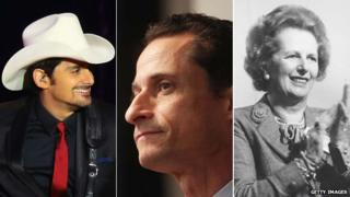Brad Paisley, Anthony Weiner and Margaret Thatcher