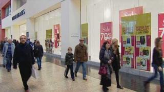 Covered shopping centres such as Silverburn in Glasgow fared slightly better
