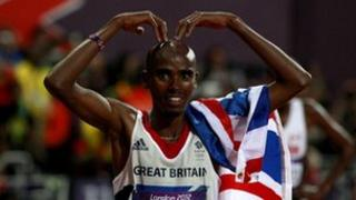 Team GB London 2012 Olympic Gold medal winner Mo Farah is taking part in the summer series