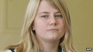 Austrian kidnap victim Natascha Kampusch pictured in 2008