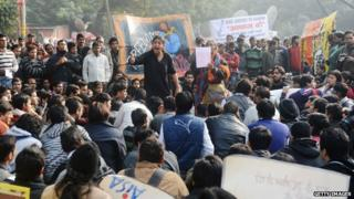 Protest march in New Delhi in December 2012