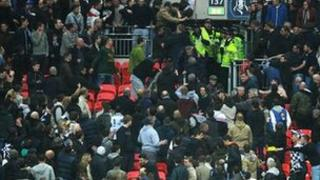 Millwall supporters at Wembley Stadium