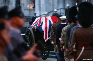 Rehearsal for Thatcher's funeral