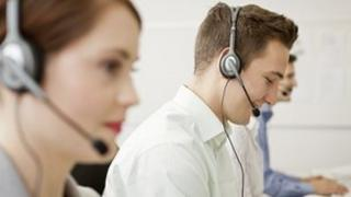 Workers with headsets