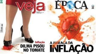 Covers of Brazilian weekly magazines