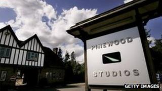 Exterior of Pinewood studio