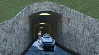 A computer generated image of the proposed tunnel in use