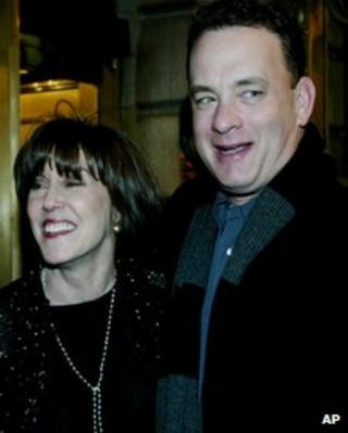 Nora Ephron with Tom Hanks in 2002