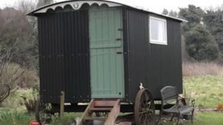 Stolen shepherd's hut